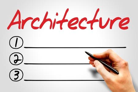 build buzz: Architecture blank list, business concept Stock Photo