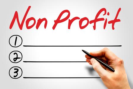 non: Non Profit blank list concept