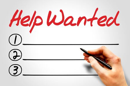 solicit: Help Wanted blank list concept