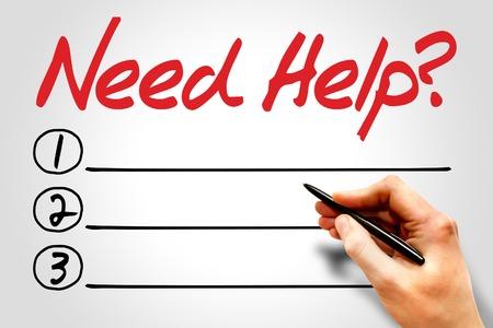 need: Need help? blank list concept