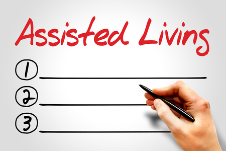 assisted living: Assisted Living blank list concept