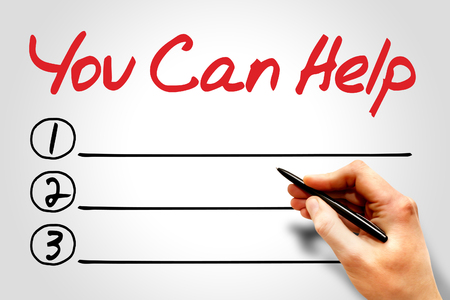 benevolence: You can help blank list concept Stock Photo
