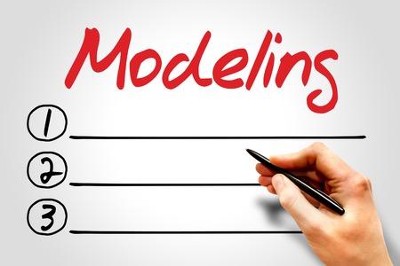 modeling: Modeling blank list, business concept