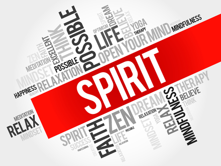 spirit: Spirit word cloud concept