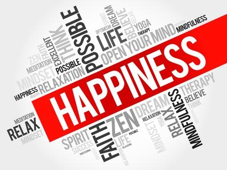 Happiness Wort Cloud-Konzept Standard-Bild - 47045323