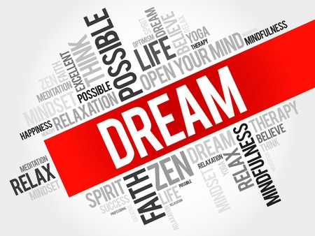 Dream word cloud concept Illustration