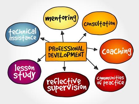 Professional development mind map business concept