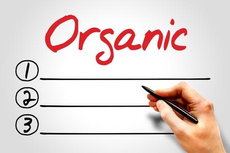 increase fruit: Organic blank list