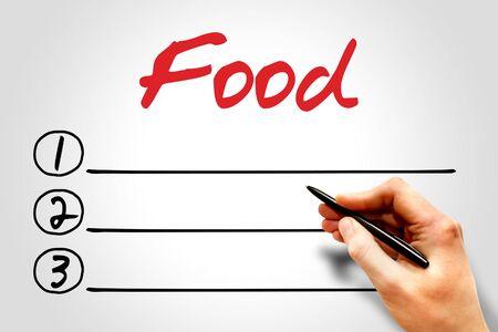 increase fruit: Food blank list