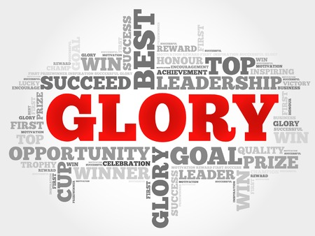 commend: Glory word cloud, business concept