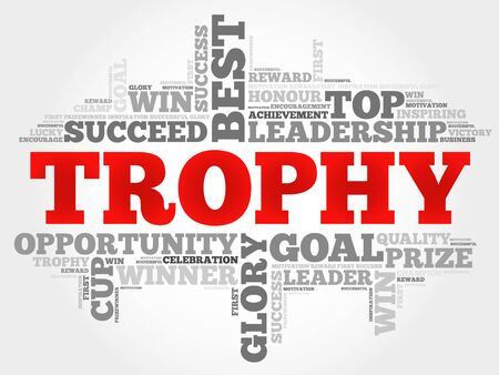 triumphant: Trophy word cloud, business concept Illustration