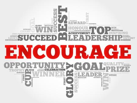 encourage: Encourage word cloud