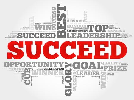 succeed: Succeed word cloud