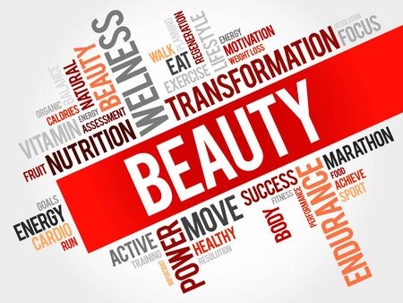 spa collage: Beauty word cloud Illustration