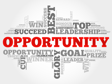 opportunity: Opportunity word cloud Illustration