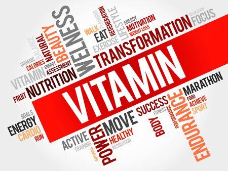 enzyme: Vitamin word cloud