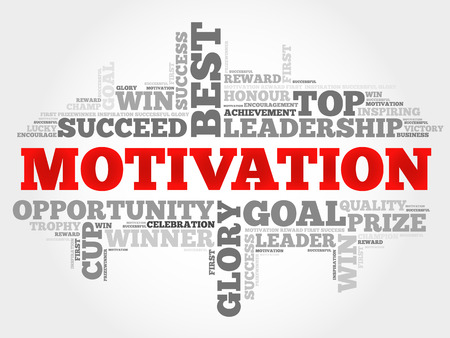 motivator: Motivation word cloud Illustration