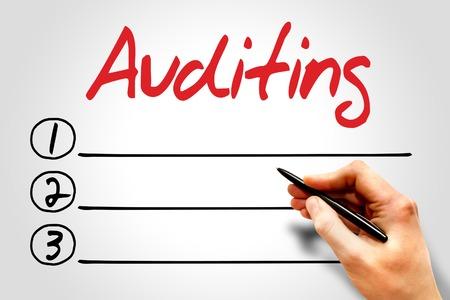 auditoría: Auditoría lista en blanco