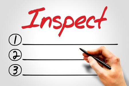 validez: Inspeccione lista en blanco, concepto de negocio Foto de archivo