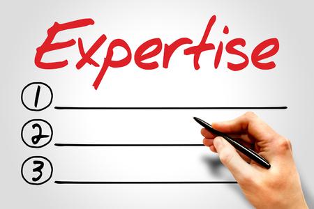 expertise: Expertise blank list