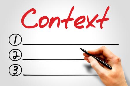 context: Context blank list