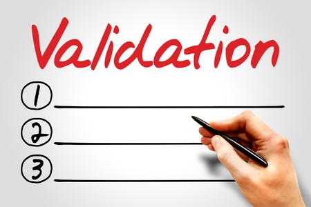 Validation blank list