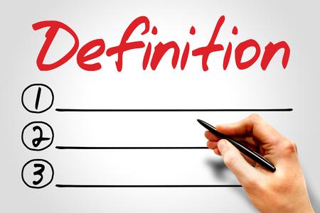 definicion: Definici�n lista en blanco