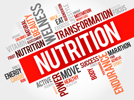 nutrition health: Nutrition word cloud