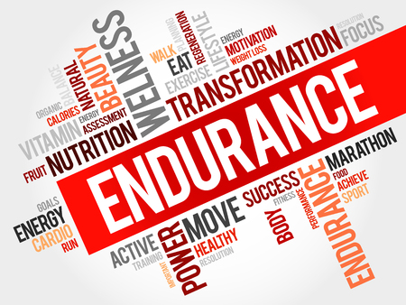fortitude: Endurance word cloud Stock Photo