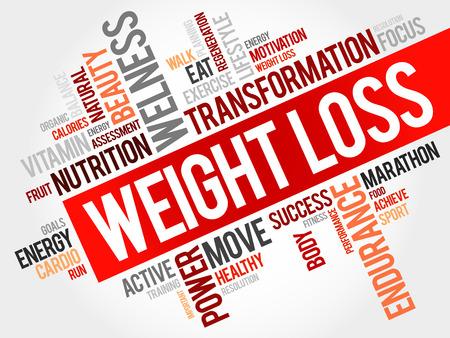 Gewichtsverlies woordwolk Stockfoto