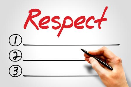 respetar: Respeto lista en blanco concepto