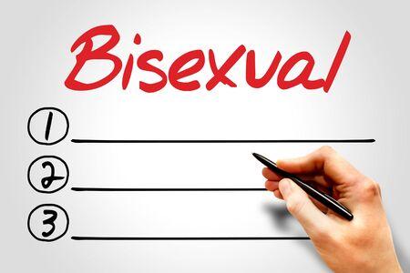 bisexual: Bisexual blank list concept
