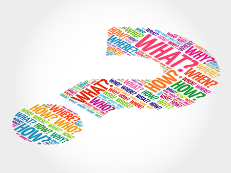 疑問符、質問語ベクトルの概念