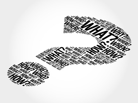 Question mark, Question words vector concept Stock Illustratie