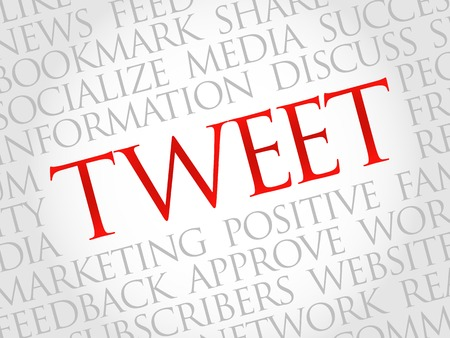 weblogs: Tweet word cloud, business concept