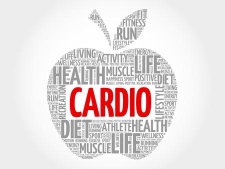 cardio: Cardio apple word cloud concept
