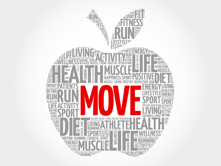mover: Move apple word cloud concept