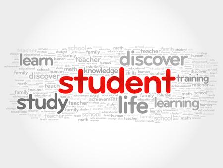 education concept: STUDENT word cloud, education concept