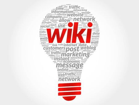 podcasts: Wiki bulb word cloud, business concept