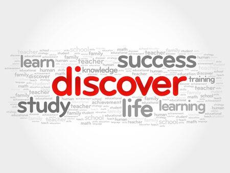 DISCOVER word cloud, education concept Illustration