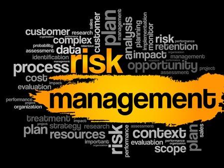 recursos financieros: Gestión de Riesgos palabra nube, concepto de negocio