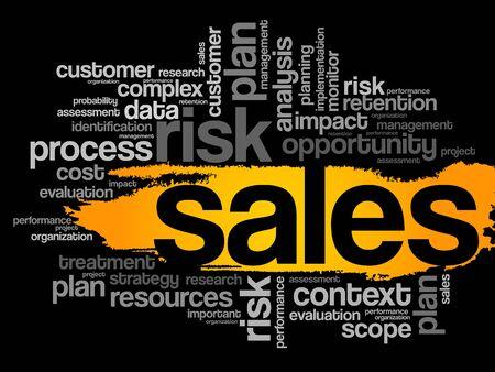 retailing: Sales word cloud, business concept Illustration