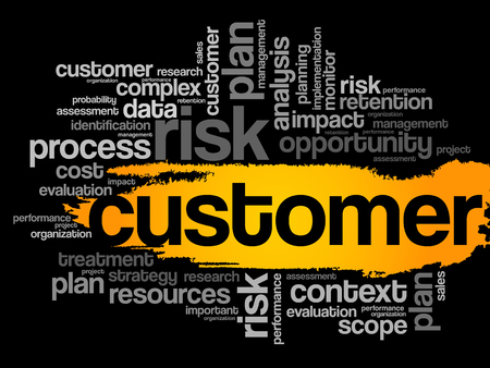 retention: Customer word cloud, business concept