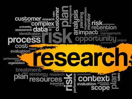 onderzoek: Research word cloud, business concept