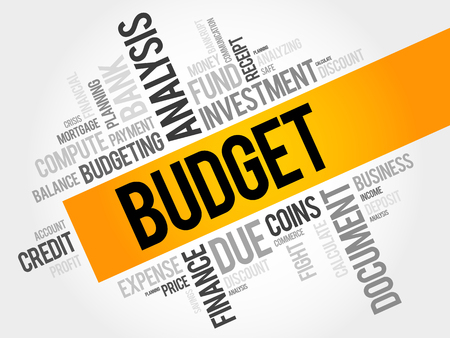 budget: BUDGET word cloud, business concept Illustration