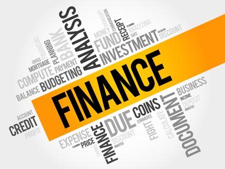 finance: FINANCE word cloud, business concept