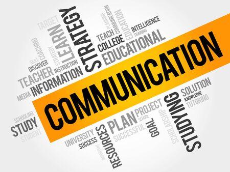 education concept: COMMUNICATION word cloud, education concept