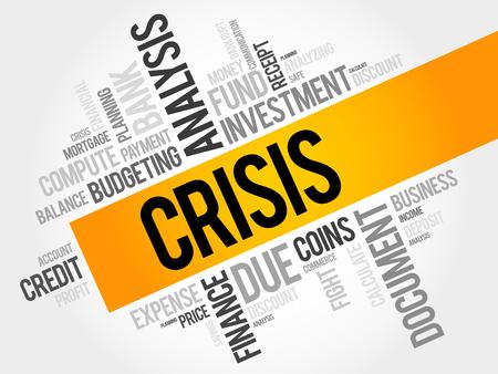 housing problems: CRISIS word cloud, business concept Illustration