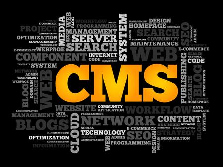 cms: CMS Content Management System word cloud, business concept