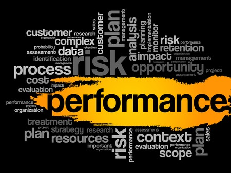performance: Performance word cloud, business concept